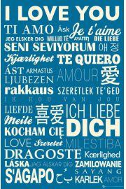 Kocham Cię w Różnych Językach - plakat motywacyjny