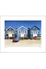 Domki na plaży, Łódka - reprodukcja