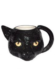 Kubek z czarnym kotem