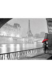 Paryż Pocałunek Wieża Eiffla - plakat