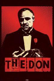 Ojciec Chrzestny Don Corleone - plakat