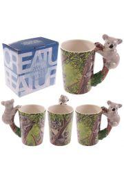 Biały kubek ceramiczny Koala