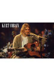 Nirvana Kurt Cobain Unplugged - plakat