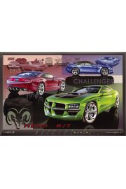 Dodge Challenger Historia - plakat