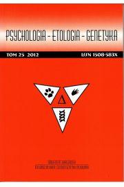 Psychologia-Etologia-Genetyka nr 25/2012