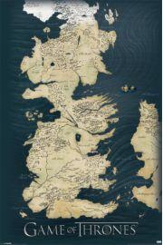 Gra o Tron Mapa Kr�lestw - plakat