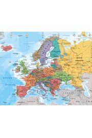 Polityczna Mapa Europy - plakat