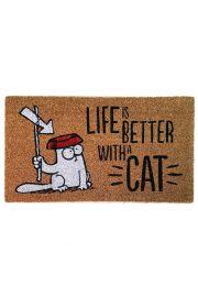 Wycieraczka na licencji Kota Simona - Life is better with a cat