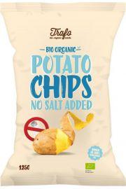 Chipsy Ziemniaczane Naturalne Bez Dodatku Soli Bio 125 G - Trafo