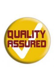 QUALITY ASSURED - przypinka