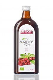Sok Żurawinowy 100% Bio 500 Ml - Polska Aronia