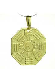 Amulet bagua, pozłacany
