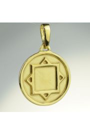 Amulet Ochronny Thurisaz, pozłacany