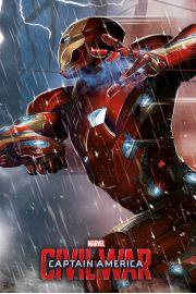 Kapitan Ameryka Wojna Bohaterów - Iron Man - plakat