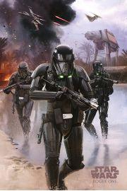 Łotr 1. Gwiezdne wojny Death Trooper Beach - plakat