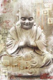 Budda - Mnich Buddyjski - plakat