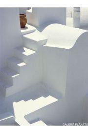 Grecja Biały Kościół - Whitewashed Church - reprodukcja