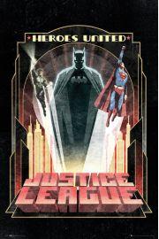 DC Comics Liga Sprawiedliwych Batman Art Deco - plakat