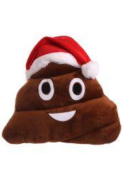 Świąteczna poduszka z emotikonem, Kupka w czapce