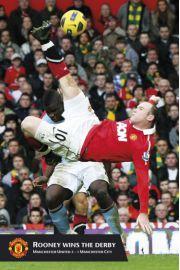 Wayne Rooney Gol z Przewrotki - Manchester United - plakat