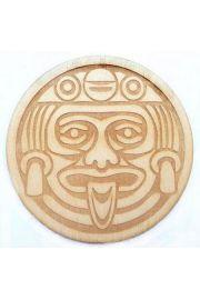 Aztecka podkładka pod kubek, drewno
