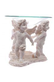 Biała figurka Cherubinów - podstawka pod świeczki z naczynkiem n