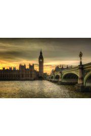 Jesienny Londyn - Big Ben - Rod Edwards - plakat
