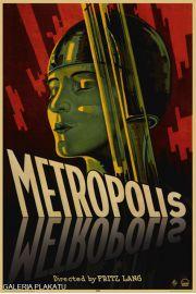 Metropolis Fritz Lang - retro plakat