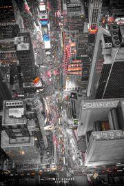 Nowy Jork Times Square Nocą - plakat