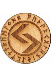 Runa Jeran 5 cm - amulet drewniany