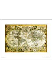 Historyczna Mapa Świata - art print