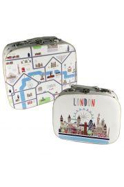 Zestaw 2 okr�g�ych pude�ek - Mapa Londynu