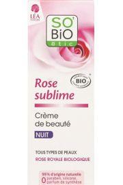 SO BiO, Rose Sublime, Upiększający krem na noc do wszystkich typów cery, 50ml