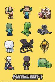 Minecraft Bohaterowie - plakat