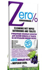 Nawilżane chusteczki do czyszczenia łazienki i toalety ERO Zero