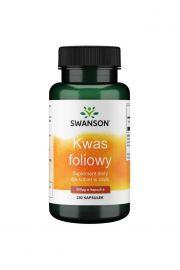 Swanson Kwas foliowy (Folic Acid) 250 kaps.