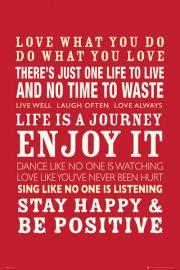 Życie jest Podróżą - plakat motywacyjny