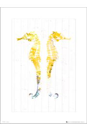 Seaside Seahorse Yellow - art print