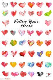 Podążaj za głosem Serca - Miłość - plakat motywacyjny