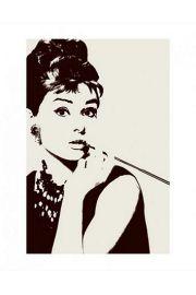 Audrey Hepburn Cigarello - reprodukcja