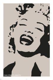 Marilyn Monroe Stencil - plakat