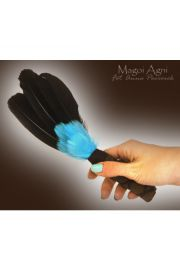 Pióra do rytuałów czarno-niebieskie