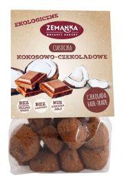 Ciasteczka Kokosowo - Czekoladowe Z Czekoladą Fair Trade Bio 100 G - Zemanka