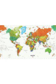 RoomMates. Mapa świata - naklejki wielokrotnego użytku, 320 cm x 184 cm