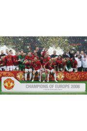 Manchester United Mistrzowie Europy - plakat
