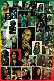 Bob Marley Kolaż - plakat