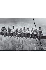 Nowy Jork - Lunch Robotników - plakat