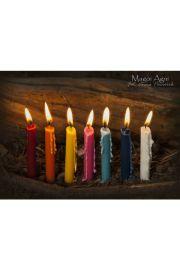 Świece czakralne Komplet 7 świec