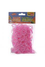 Różowe Gumki Loom Bands 600 sztuk