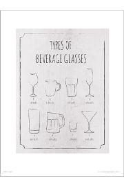 Beverage Glasses - art print